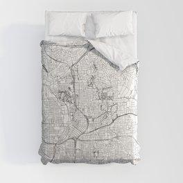 Atlanta White Map Comforters