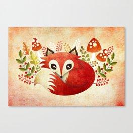 Lazy Foxy Canvas Print