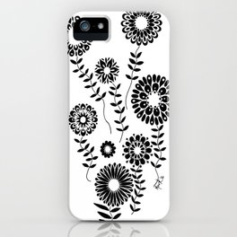 Geometric Flowers number 1 iPhone Case
