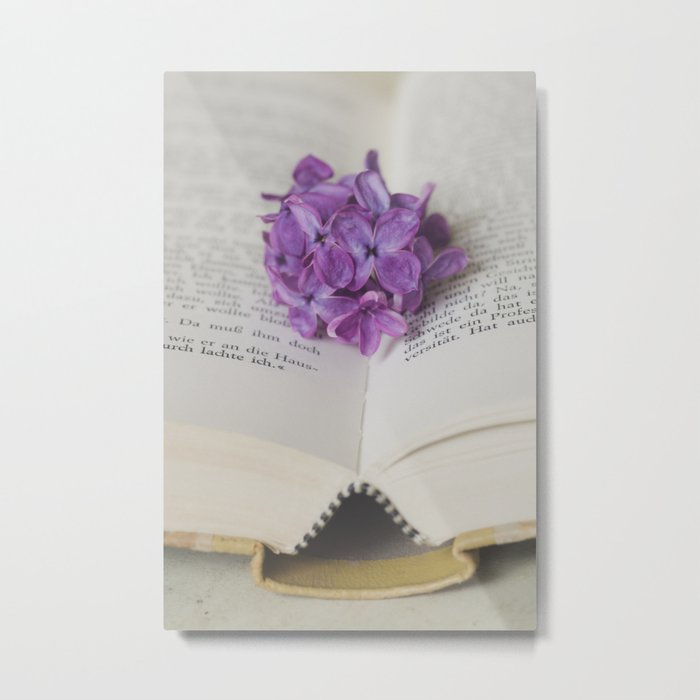 Lilac Bookmark II Metal Print