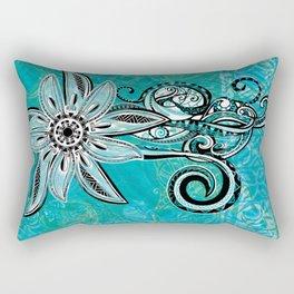 Trbal Floral Theads Rectangular Pillow