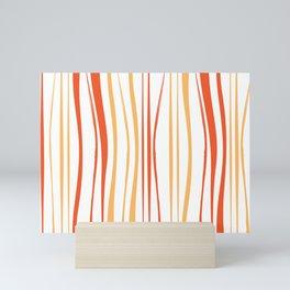 Orange Tree Lines Mini Art Print
