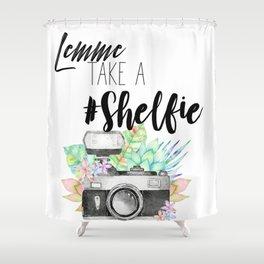 Lemme Take a #Shelfie Shower Curtain