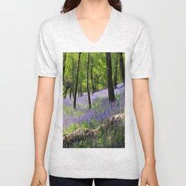 Bluebell Wood. Unisex V-Neck