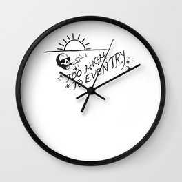 Too High to Even Try Wall Clock