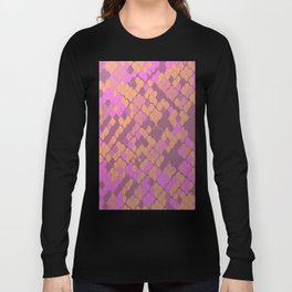Gold and Pink Snake Skin Long Sleeve T-shirt