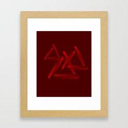 Fantastic triangle Framed Art Print