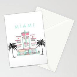 Miami Art Deco Vibes Stationery Cards