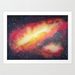 Nebula painting #1 Art Print