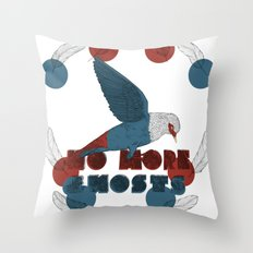 No More Ghosts - Mauritius Blue Pigeon Throw Pillow