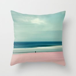 edge of the sea - abstract seascape Throw Pillow