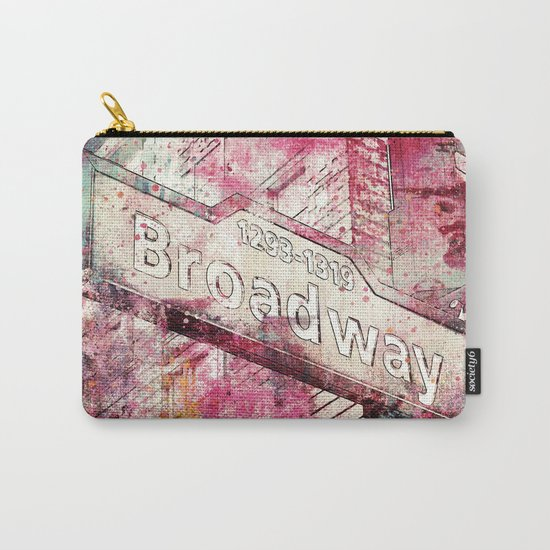 Broadway sign New York City Carry-All Pouch