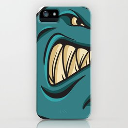 Angry shark iPhone Case