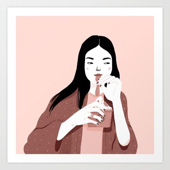 Froyo lover Art Print