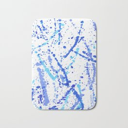 Eclats bleus Bath Mat