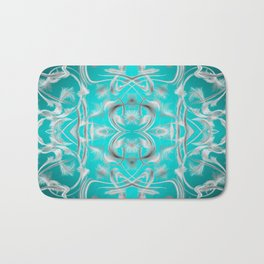 silver in mint Digital pattern with circles and fractals artfully colored design for house Bath Mat