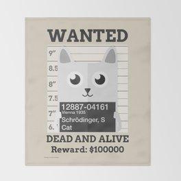 Schrödingers Cat Throw Blanket
