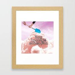 Een luchtje scheppen. Framed Art Print