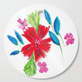Vintage Floral Spray Cutting Board