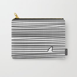 Minimal Line Drawing Simple Unique Shark Fin Gift Carry-All Pouch