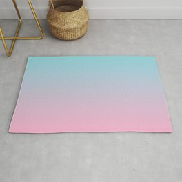 PINK DAWN Pastel colors Ombre pattern  Rug