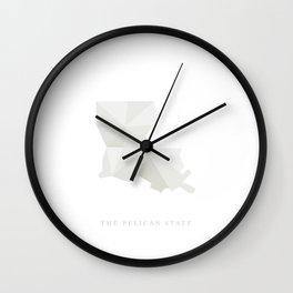 Louisiana, The Pelican State Wall Clock