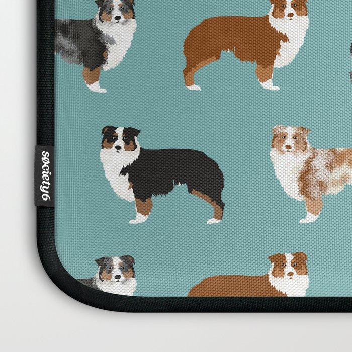 Australian Shepherd owners dog breed cute herding dogs aussie dogs animal pet portrait hearts Laptop Sleeve