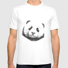 Giant  Panda G100 MEDIUM Mens Fitted Tee White