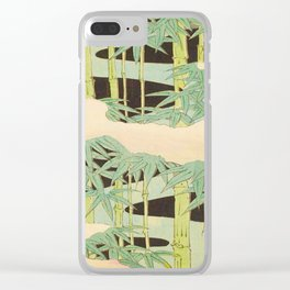Shin-Bijutsukai – Japanese Design Bamboo At Night Clear iPhone Case