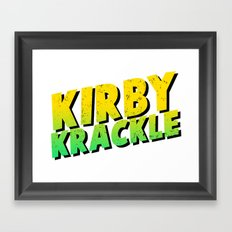 Kirby Krackle - Yellow/Green Logo Framed Art Print