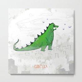Big lizard Metal Print