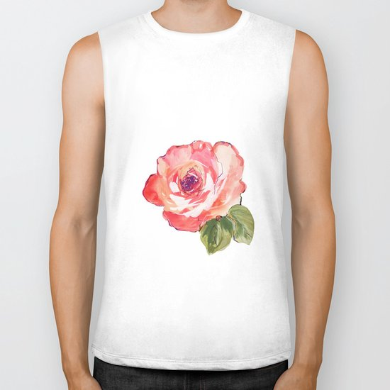 The Rose floral  Biker Tank