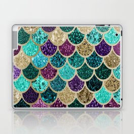 Mermaid Scales Decor, Teal, Purple, Gold Laptop & iPad Skin
