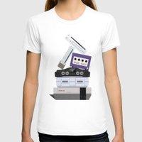 nintendo T-shirts featuring Nintendo Consoles by Michael Walchalk