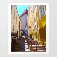 Pathway through Tallinn, Estonia Art Print