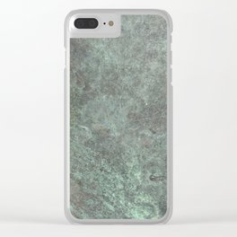 Metal- Tarnished Copper Clear iPhone Case