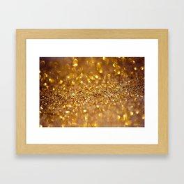 Golden glitter #society6 Framed Art Print