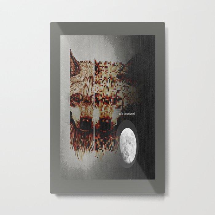 Alpha Moon Metal Print