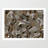 metallic Art Prints featuring Metallic by LoRo  Art & Pictures
