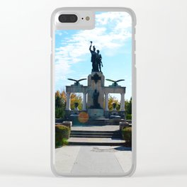 Drobeta heroes statue panorama Clear iPhone Case