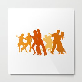 Tango Dancers Illustration  Metal Print