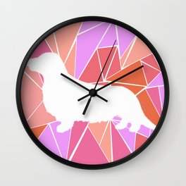 Dachshund on Sweet Mosaic Wall Clock
