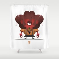 leo Shower Curtains featuring LEO by Angelo Cerantola