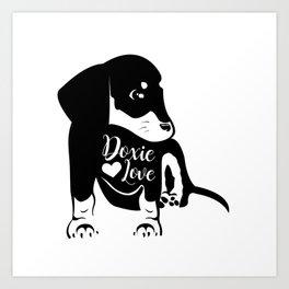 Doxie Love Art Print