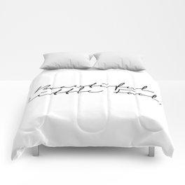 beautiful little fool Comforters