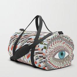 Origami Chakra Eye - Aqua Marine Blue Duffle Bag