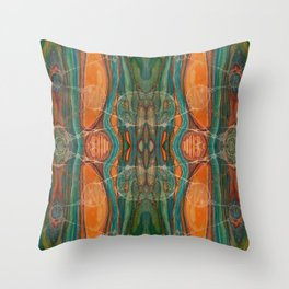Lively Synapses (Amplified Current) (Reflection) Throw Pillow