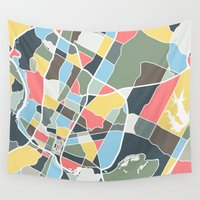 austin Wall Tapestries featuring Austin Texas. by Studio Tesouro