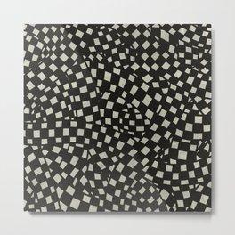 Emo Checkerboard Pattern (WHITE) Metal Print