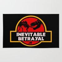 jurassic park Area & Throw Rugs featuring Jurassic Betrayal by Perdita